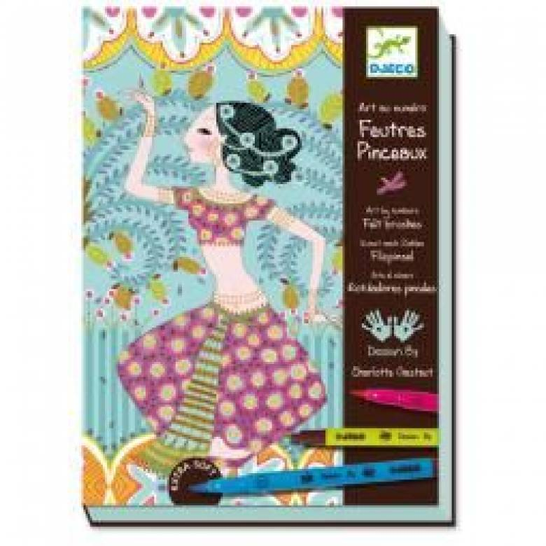 Exquisite Orient Number Colour Set Box + Felt Pens 7-10yr