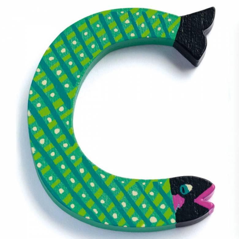 LETTER C - DJECO Animal Letter Decorative Alphabet Letter