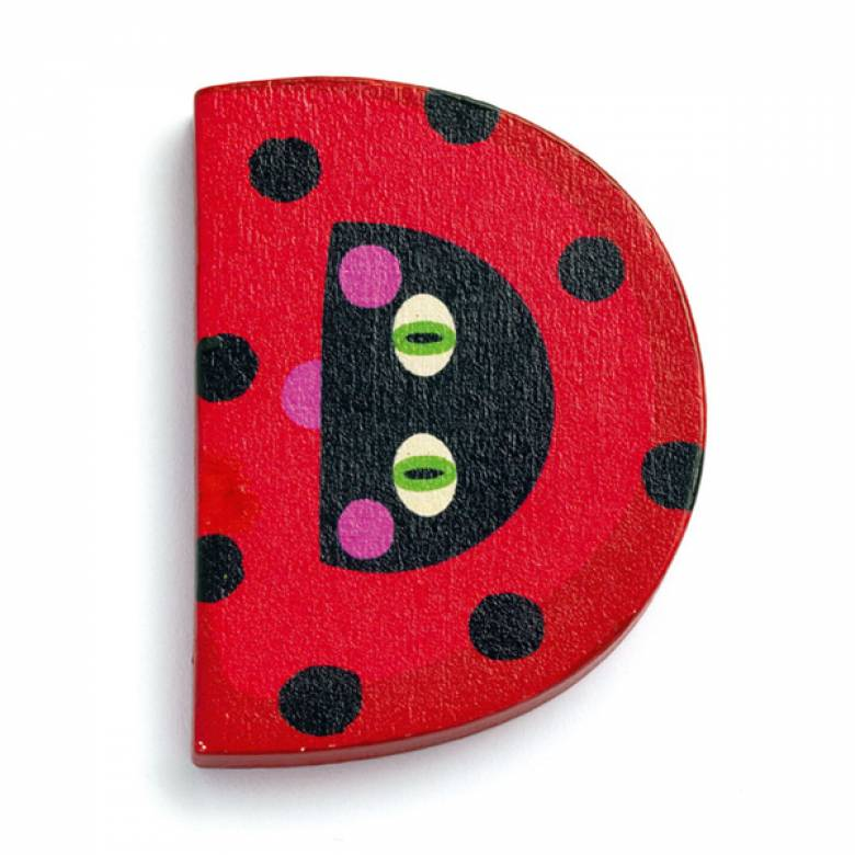 LETTER D - DJECO Animal Letter Decorative Alphabet Letter