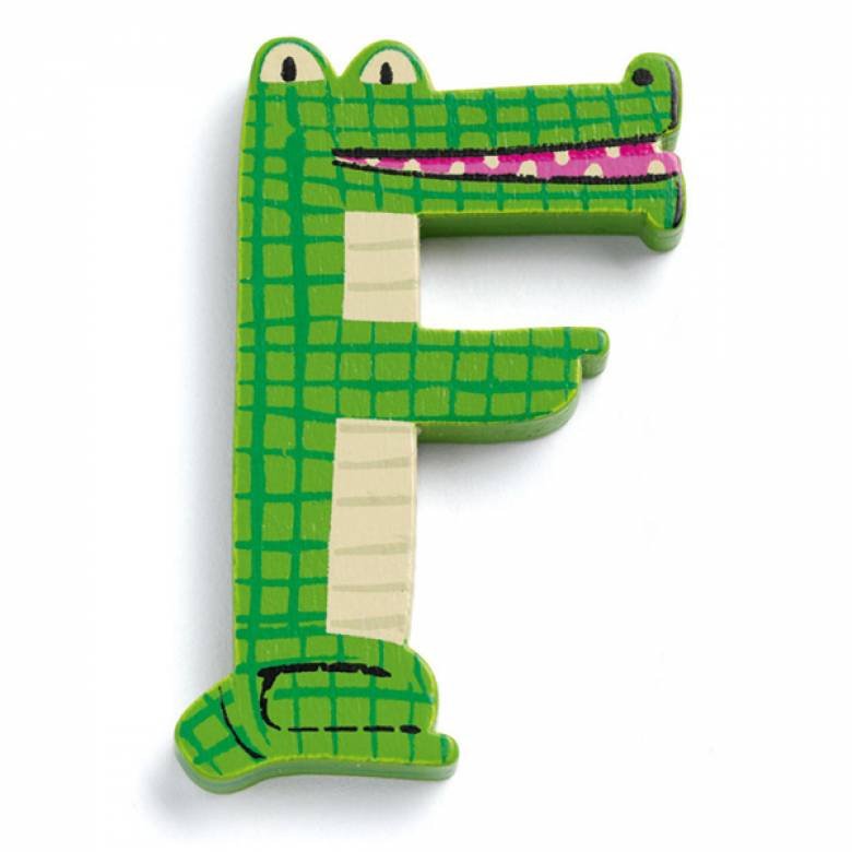 LETTER F- DJECO Animal Letter Decorative Alphabet Letter