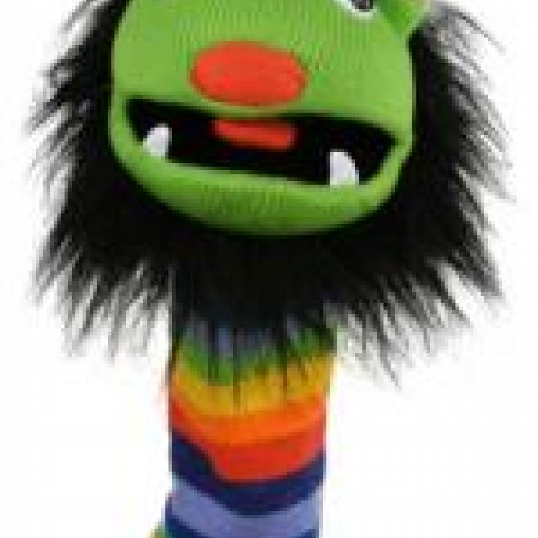Rainbow - Knitted Sockette Glove Puppet