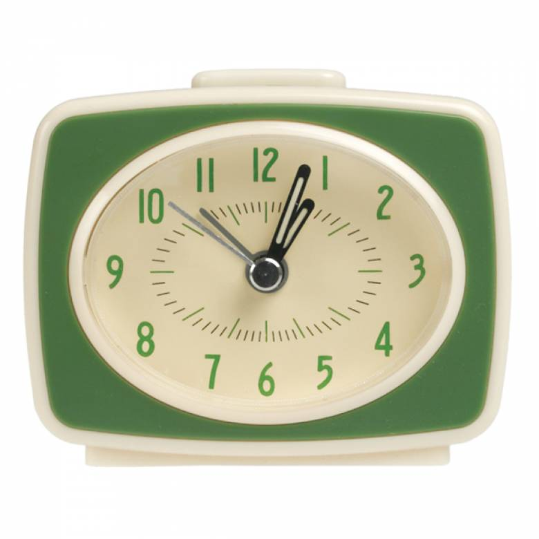 Green Alarm Clock Vintage Style TV