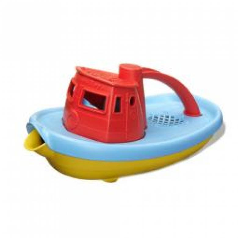 Red Top Pouring Tug Boat 6mth+ Recycled Plastic