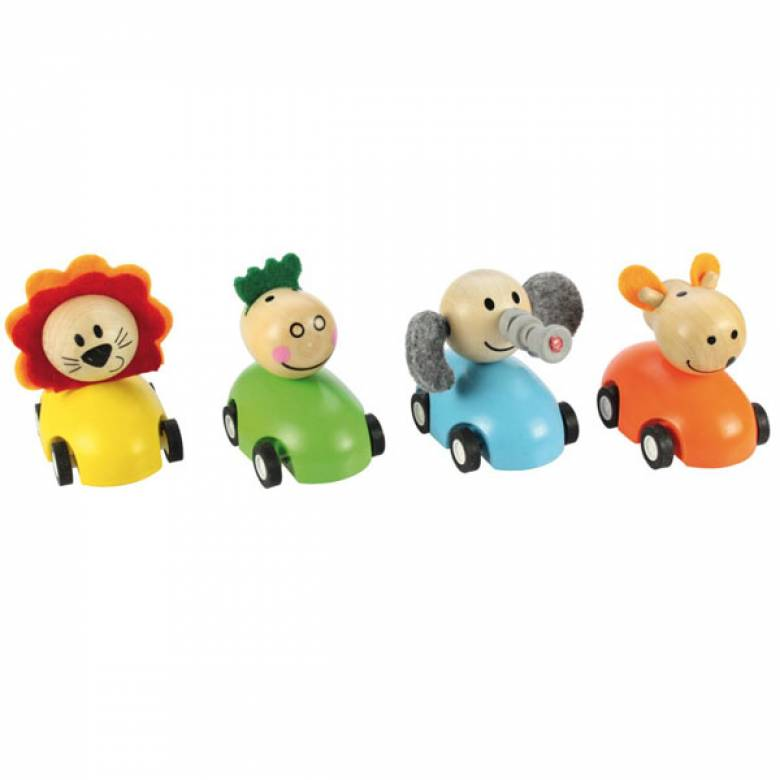 Pull Back Racing Car With Animal Single