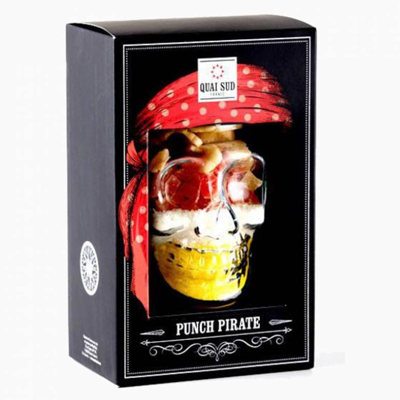 Pirate Punch - Cocktail Mix In Glass Skull