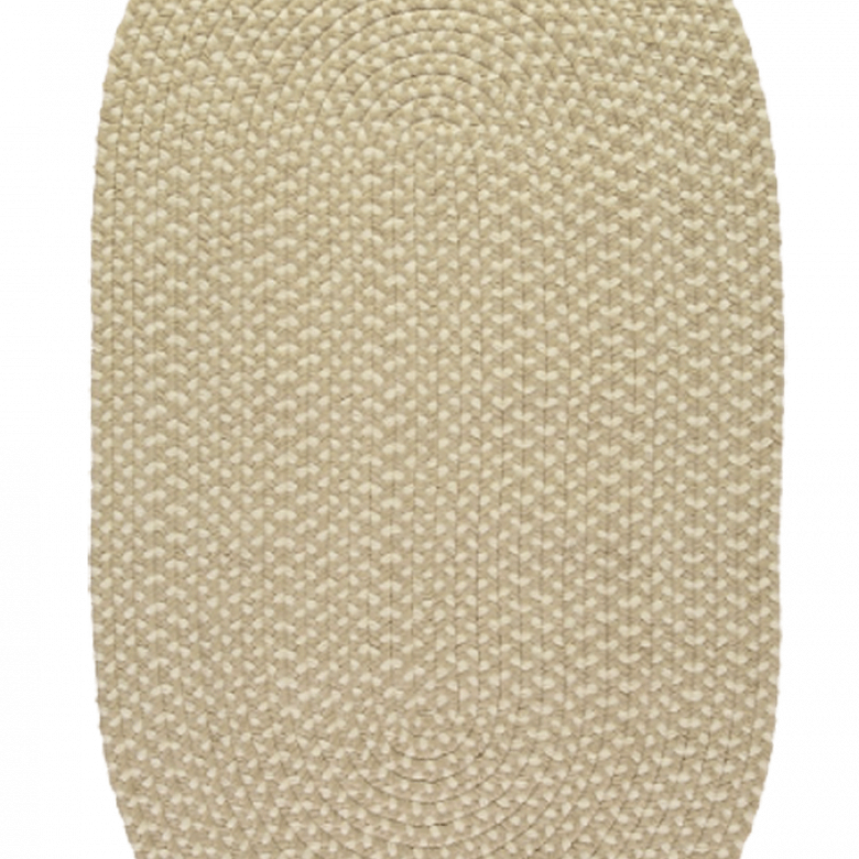 Putty Oval Braided Rug Recycled Plastic 69X122cm