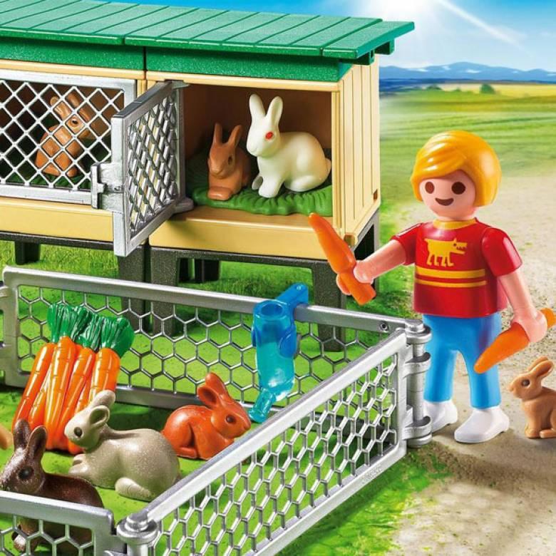 Rabbit Pen With Hutch Playmobil 6140