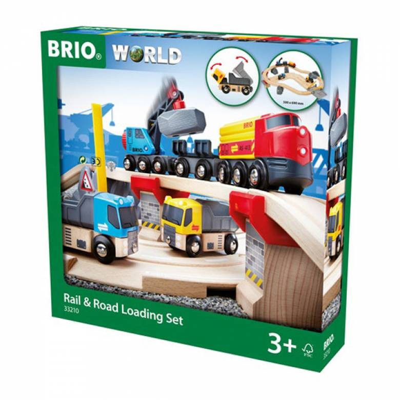 Rail & Road Loading Set BRIO® Wooden Railway Age 3+