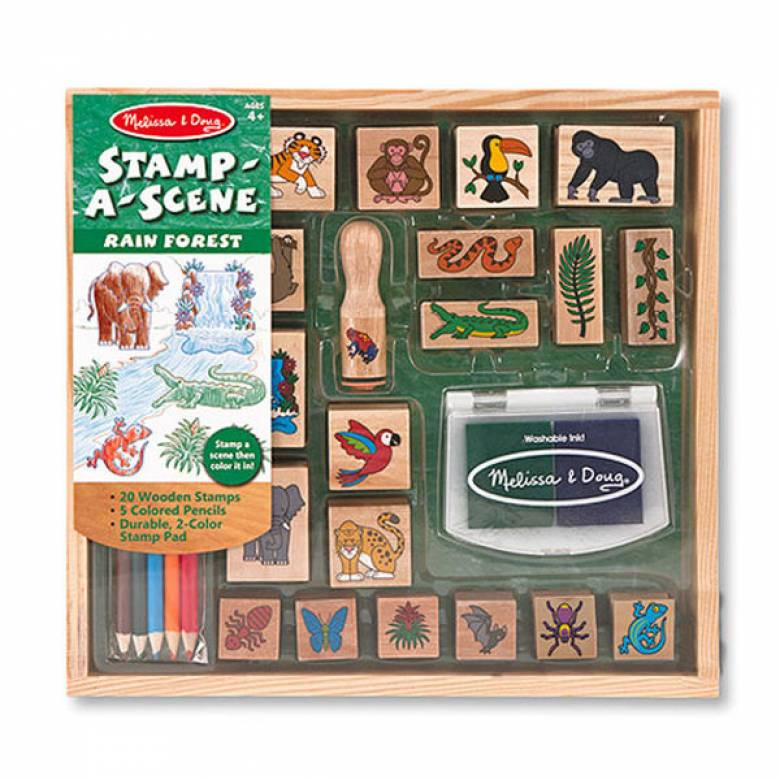 Stamp-a-Scene Set - Rain Forest 4+