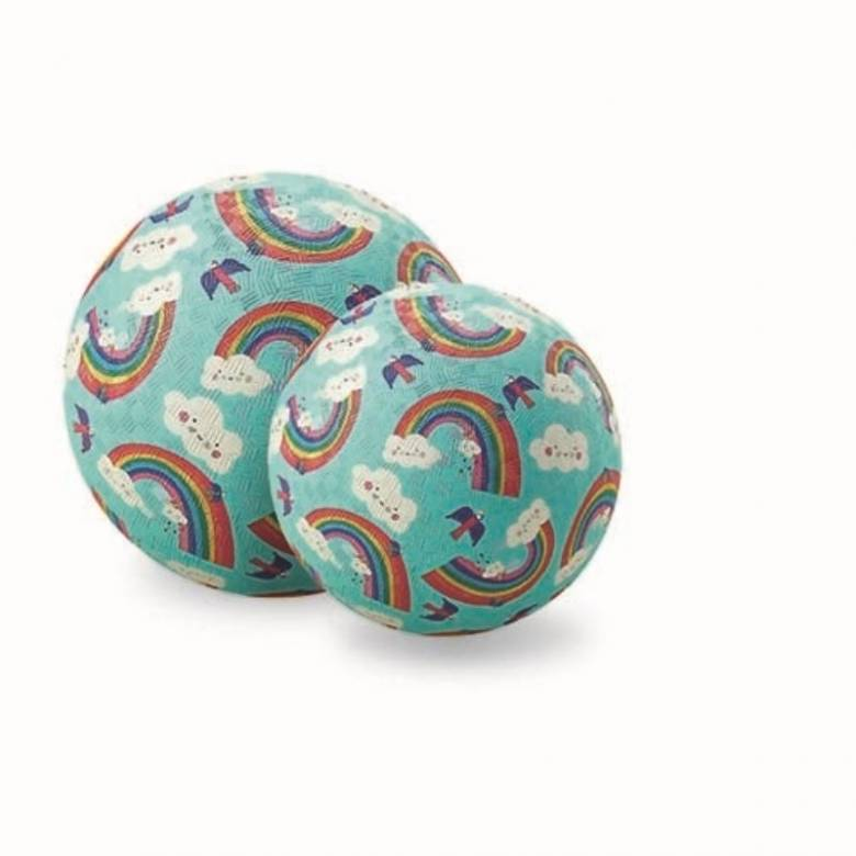 Rainbow - Large Rubber Picture Ball 18cm