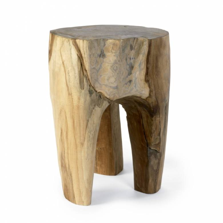 Raw Teak Natural Wooden Stool / Stand