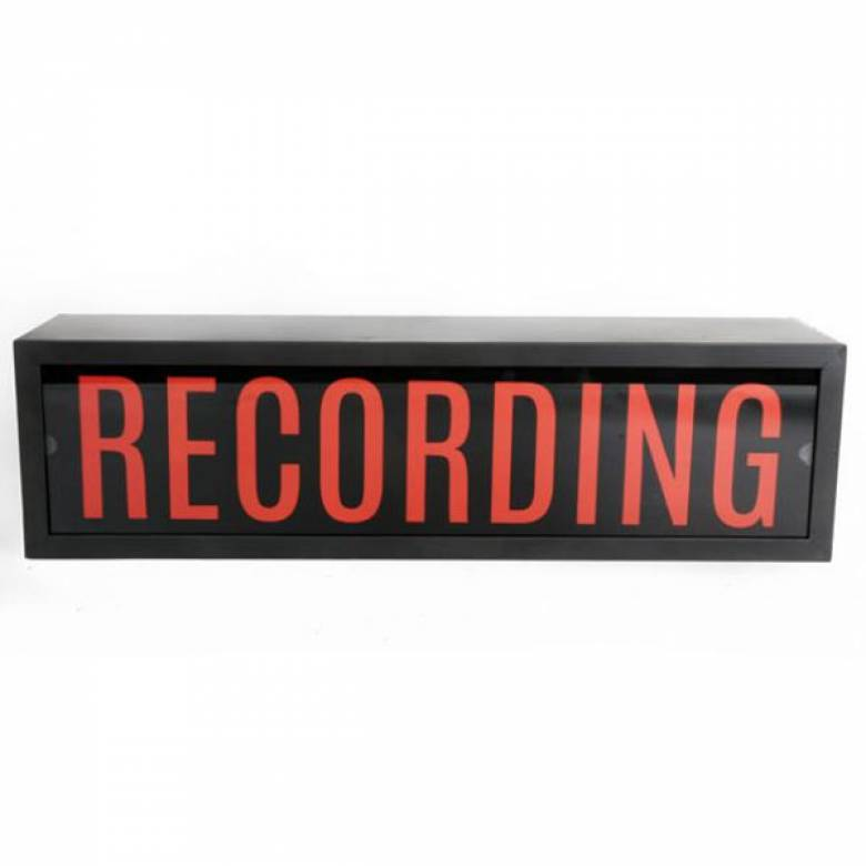 Recording Illuminated Sign Wall Mount Box Sign