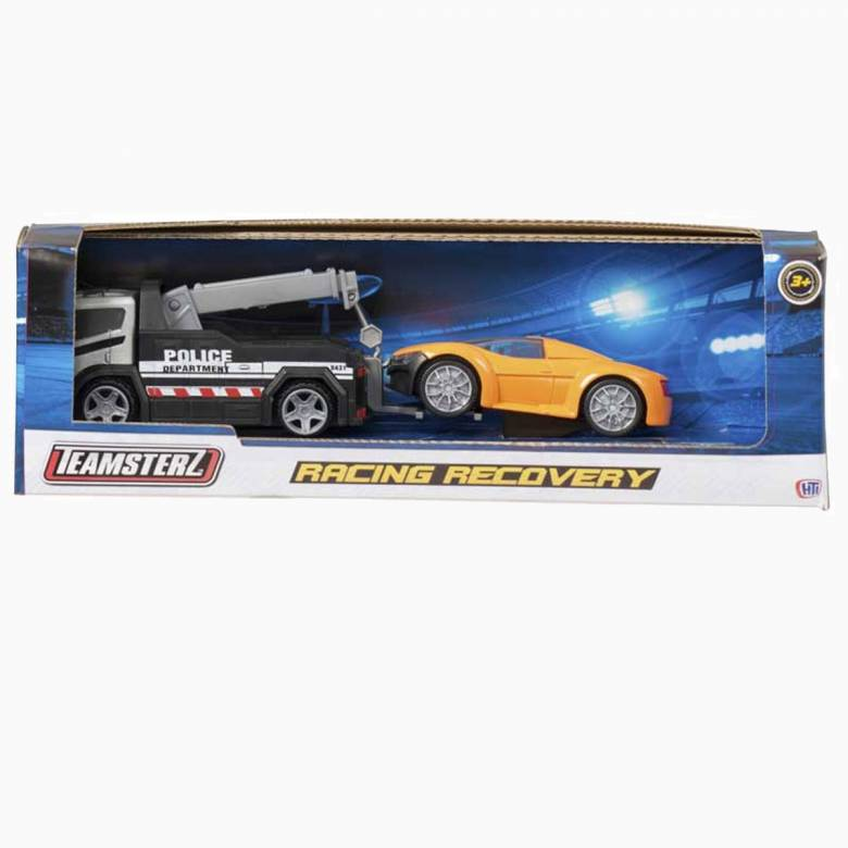Teamsterz Racing Recovery Truck Diecast and Plastic Toy Car Set