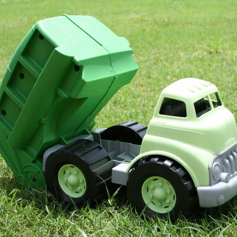 Recycling Dustbin Truck - Green Toys Recycled Plastic 1+