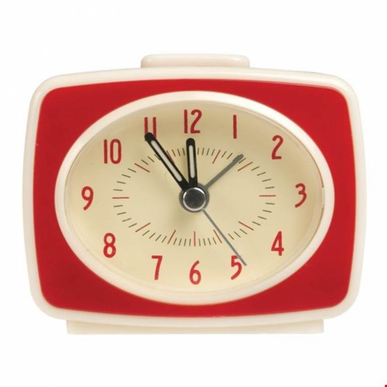 Red Alarm Clock Vintage Style TV