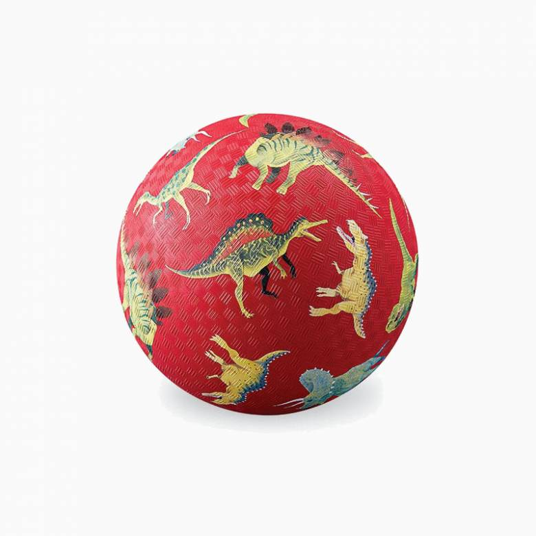 Red Dinosaur - Small Rubber Picture Ball 13cm