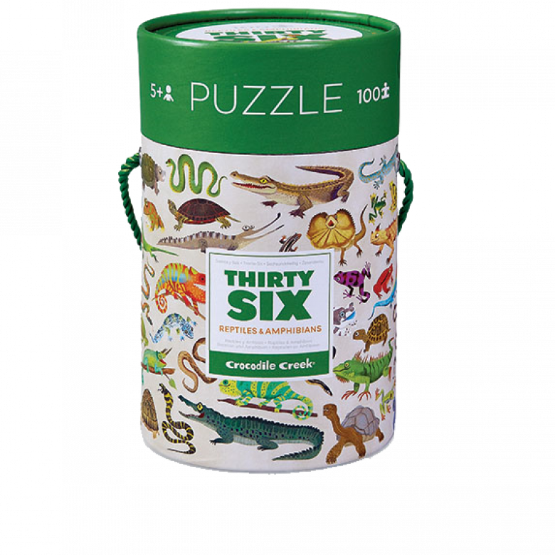 Thirty Six Reptiles & Amphibians - 100 Piece Jigsaw Puzzle 5+