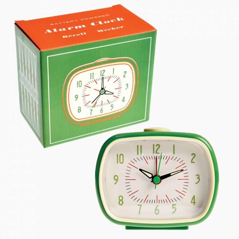 Retro Alarm Clock - Green