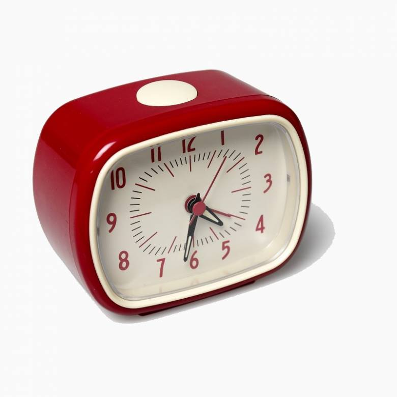 Retro Alarm Clock - Red