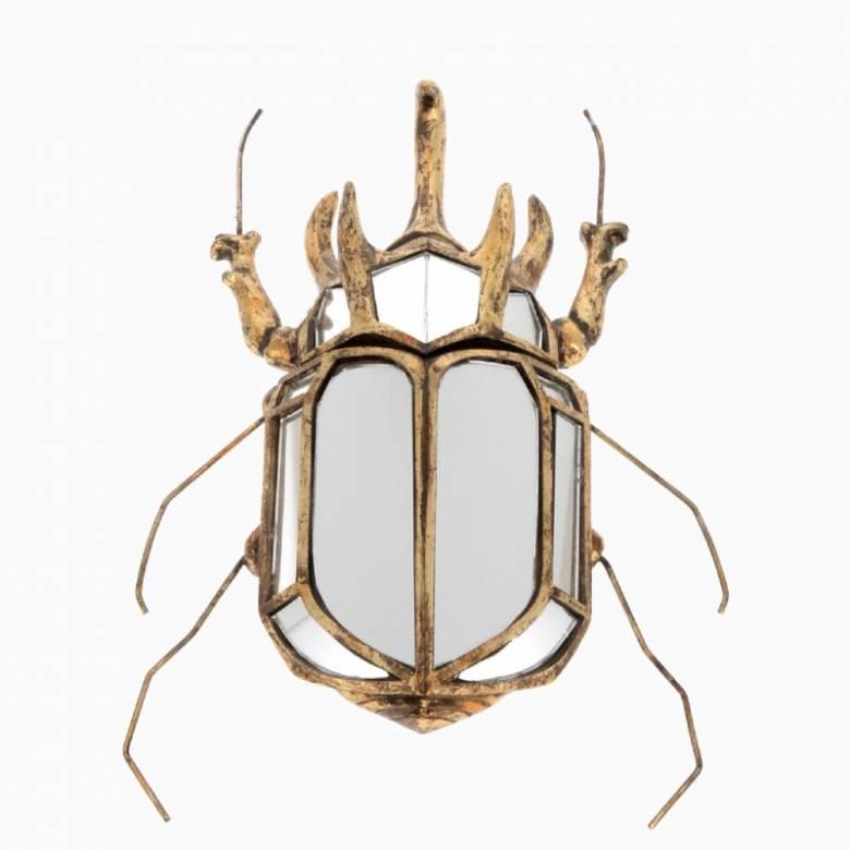 Rhinoceros Beetle Mirrored Wall Decoration