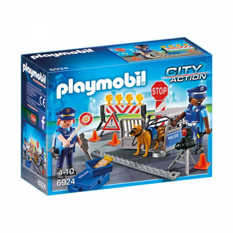 Police Roadblock City Action Playmobil 6924