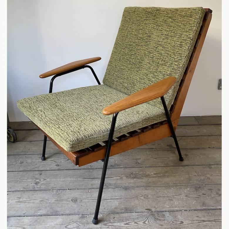 Mid Century 1950s Conservatory Chair - GREEN