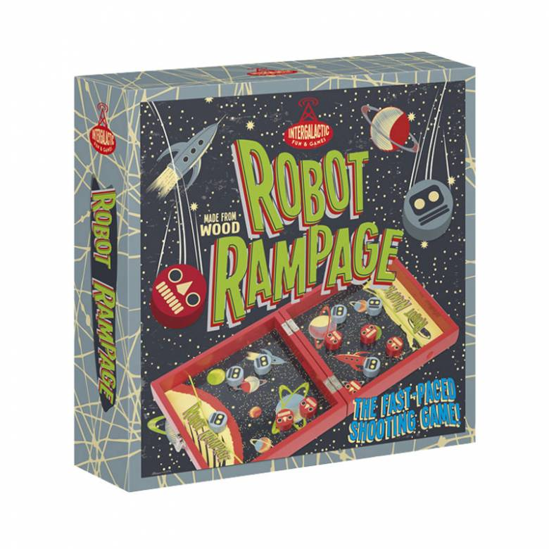 Robot Rampage - Wooden Tabletop Game