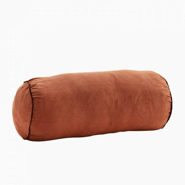 Rosewood Linen bolster cushion D:20x50 cm