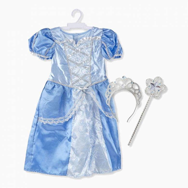 Fancy Dress Role Play Costume Set - Royal Blue Princess