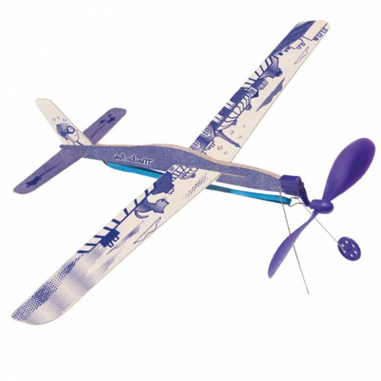 Rubber Band Wooden Glider Plane 6+