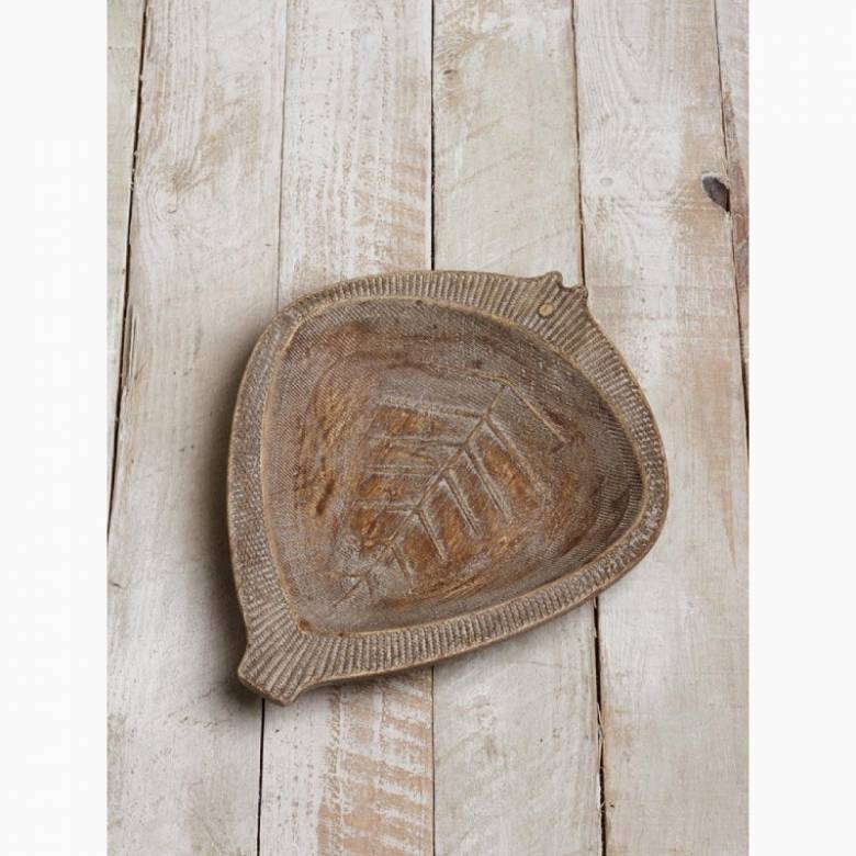 Rustic Wooden Carved Fish Shaped Platter
