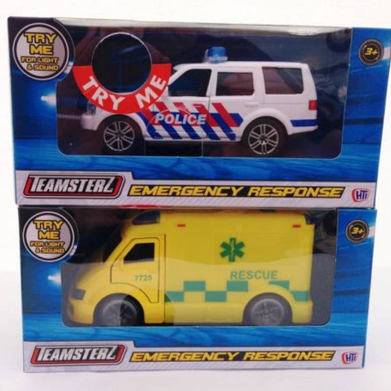 Teamsterz Emergency Response Police / Ambulance Die Cast Toy Car