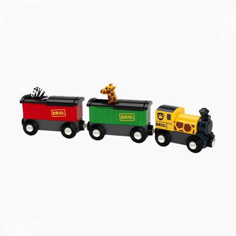 Safari Train BRIO® Wooden Railway Age 3+