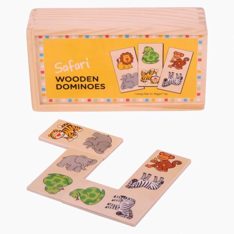Wooden Childrens Picture Dominoes SAFARI 1+