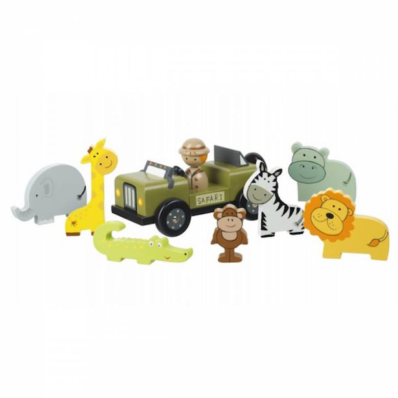 Safari Wooden Play Set With Figures