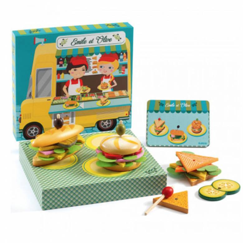 Sandwich Wooden Playfood Set By Djeco 4+