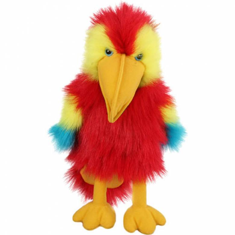 Scarlet Macaw Parrot Long Sleeved Glove Puppet Bird With Sound