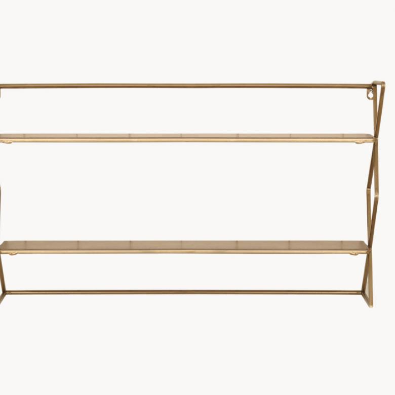 Diam Shelf Unit With Brass Finish
