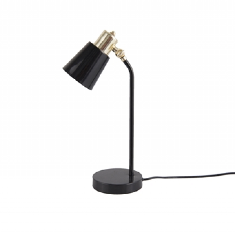 Black And Gold Metal Task Table Lamp
