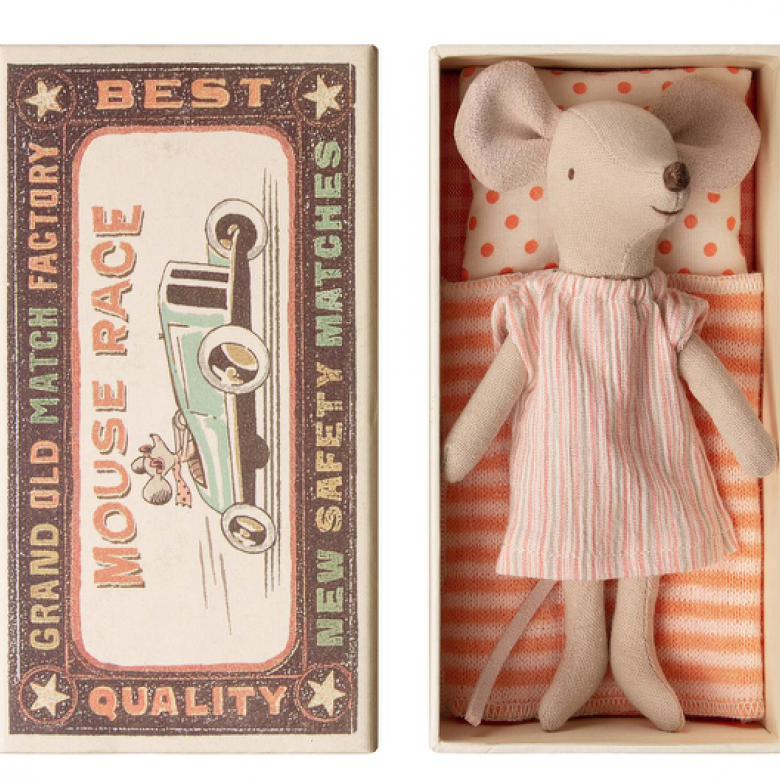 Big Sister Mouse In Match Box By Maileg