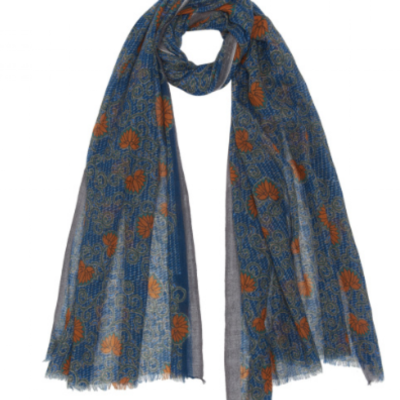 Tangerine Dream Wool Scarf By Jo Edwards