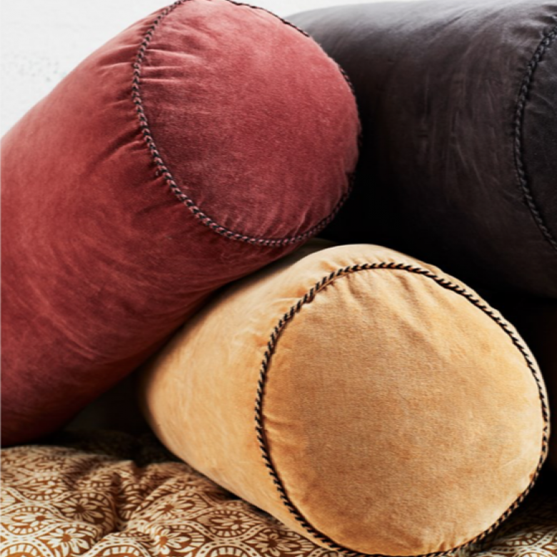 Rosewood Velvet  Bolster Cushion