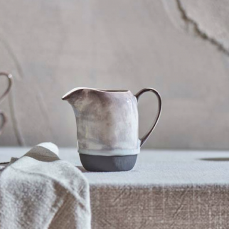 Edo Jug - White And Slate Colour