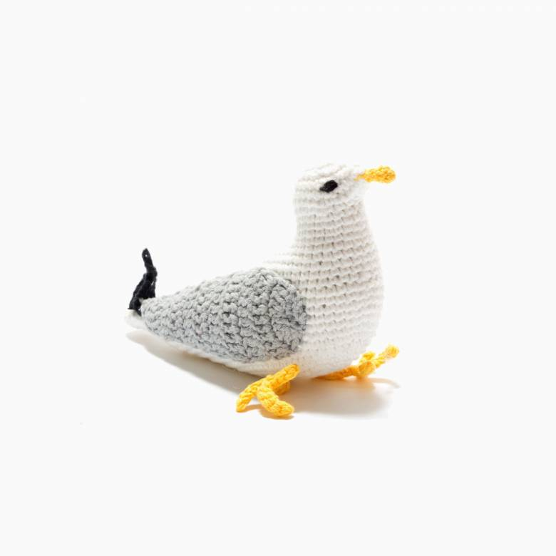 Crochet Seagull Rattle 0+