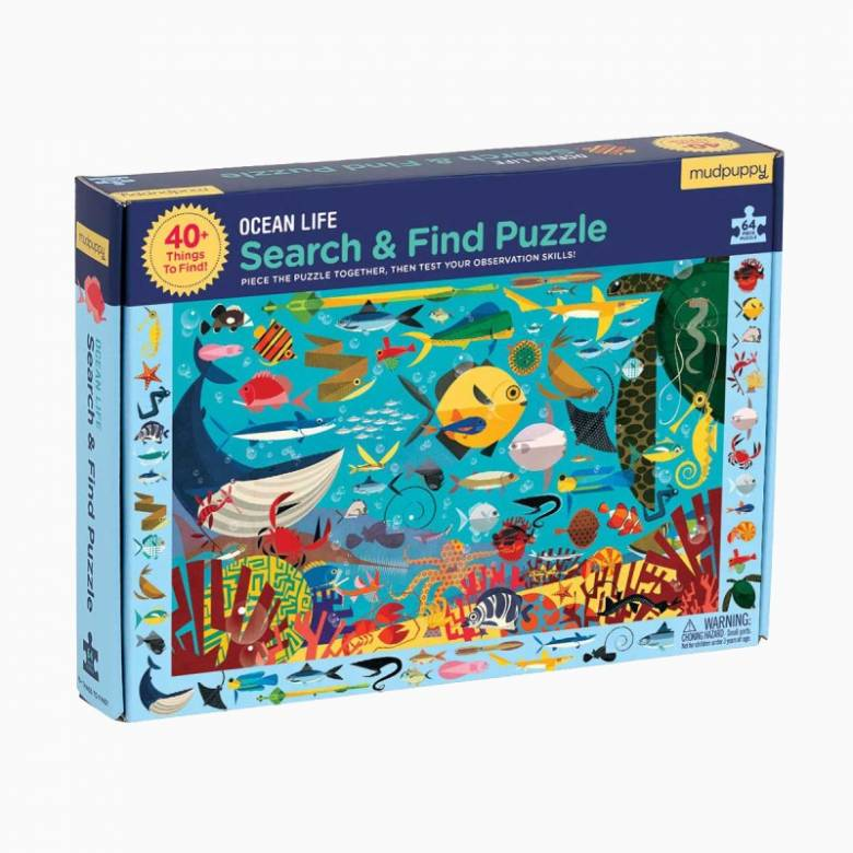 Search & Find Puzzle - Ocean Life 64pc 4+