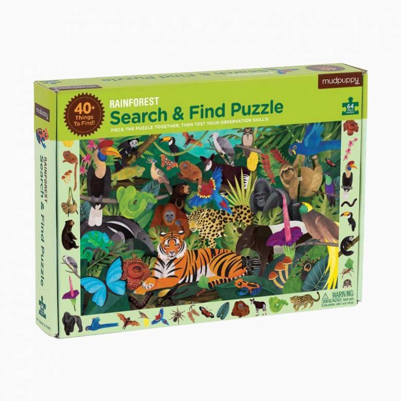 Search & Find Puzzle - Rainforest 64pc 4+