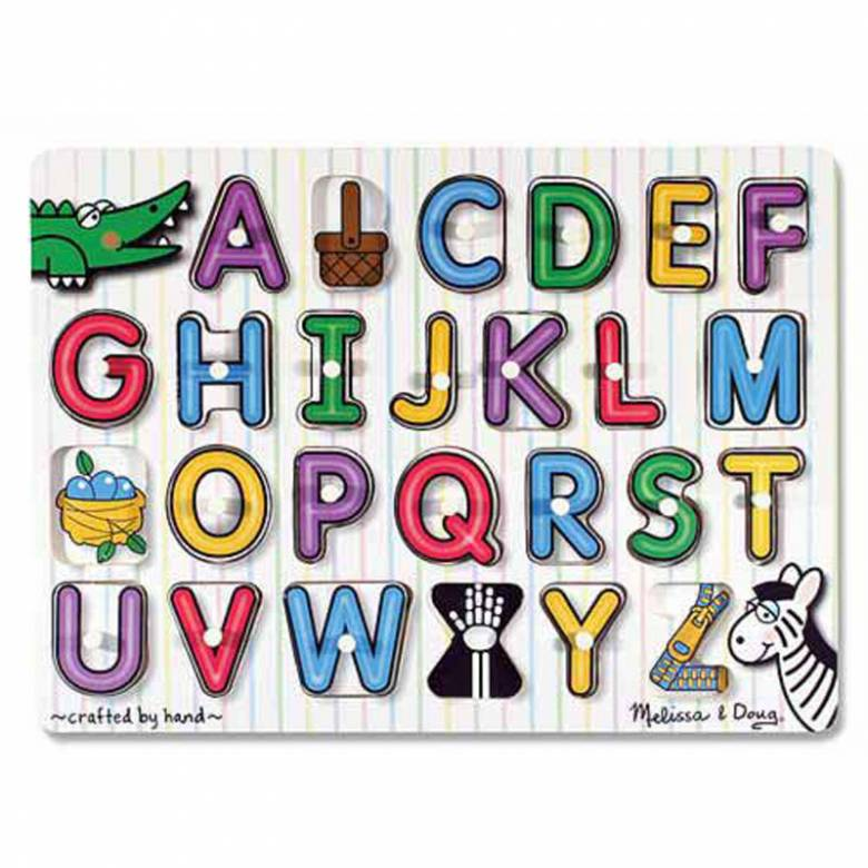 See Inside Alphabet - Small Peg Puzzle By Melissa & Doug