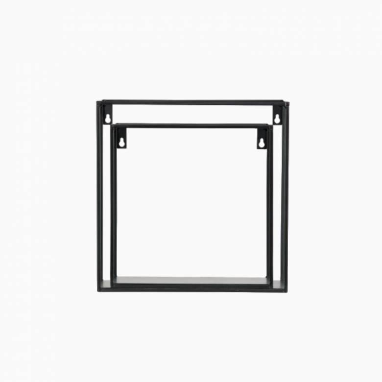 Set Of 2 Meert Metal Cube Shelves