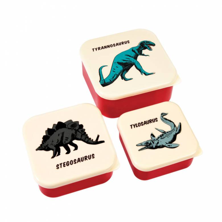 Set Of 3 Dinosaur Snack Boxes