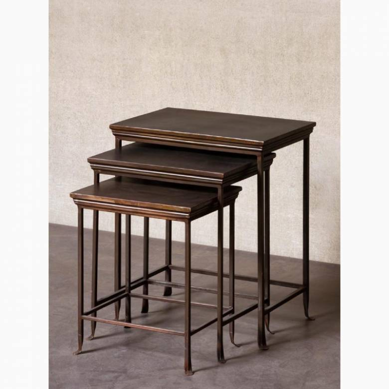 Set Of 3 Metal Nesting Side Tables
